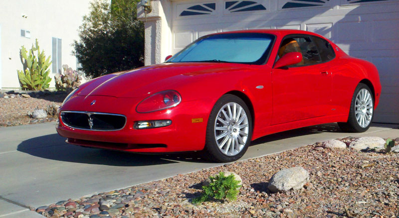 2002 Maserati Coupe GT Very Rare 6 Speed Manual Shifter Red Tan